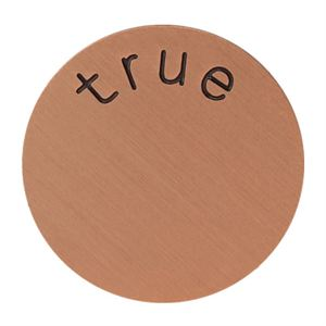 Picture of 'True' Large Rose Gold Coin